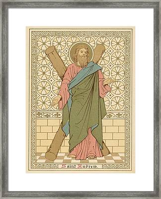 Saint Andrew Framed Print by English School
