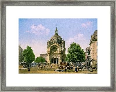 Saint Augustin De Paris Framed Print by John K Woodruff
