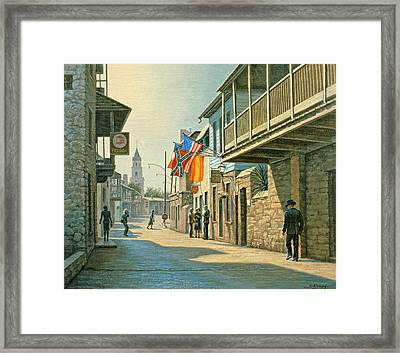 Saint Augustine Street   Framed Print by Paul Krapf