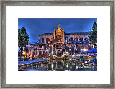 Saint Catherine Church. Brussels Framed Print by Juli Scalzi
