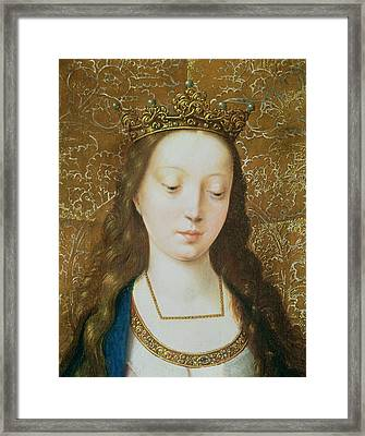 Saint Catherine Framed Print by Goossen van der Weyden