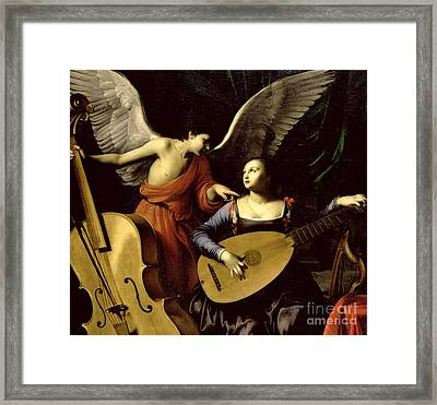 Saint Cecilia And The Angel Framed Print by Carlo Saraceni