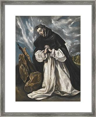 Saint Dominic In Prayer Framed Print by El Greco