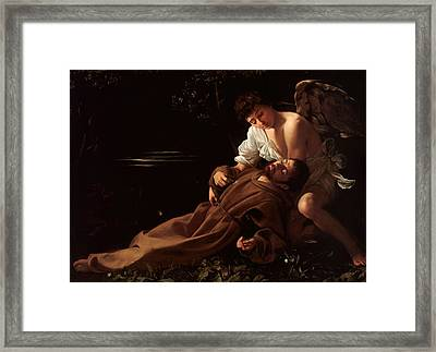 Saint Francis Of Assisi Framed Print by Celestial Images