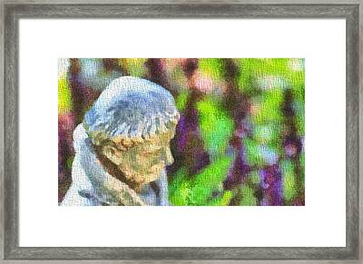 Saint Francis Of Assisi In The Garden Framed Print by Dan Sproul