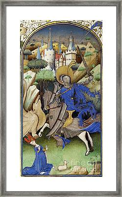 Saint George And The Dragon Framed Print by Getty Research Institute