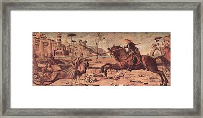 Saint George And The Dragon Framed Print by Vittore Carpaccio