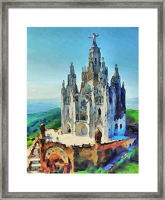 Saint Heart Cathedral Framed Print by Yury Malkov
