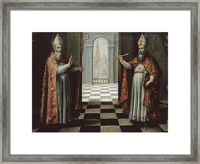 Saint Isidore And Saint Leander Framed Print by Everett