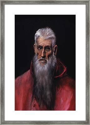 Saint Jerome Framed Print by Celestial Images
