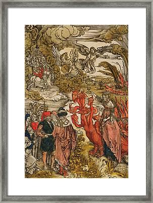 Saint John In The Desert Framed Print by Albrecht Durer or Duerer