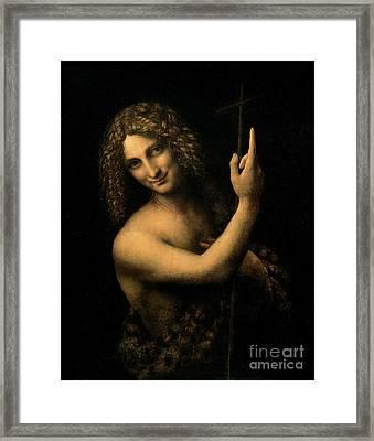 Saint John The Baptist Framed Print by Leonardo da Vinci