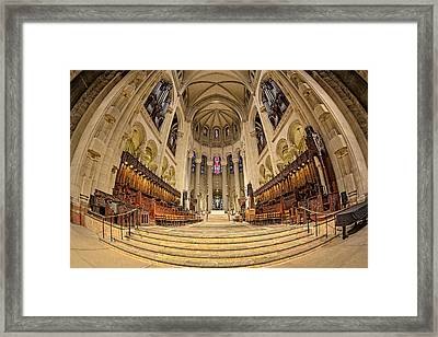 Saint John The Divine Cathedral High Altar  IIi Framed Print by Susan Candelario