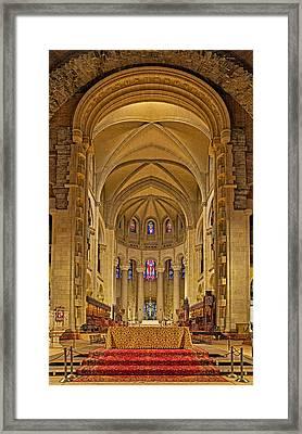 Saint John The Divine Cathedral High Altar  Framed Print by Susan Candelario