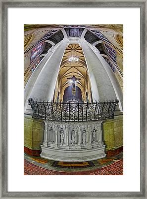 Saint John The Divine Rear Altar View Framed Print by Susan Candelario