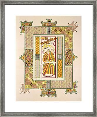 Saint John The Evangelist Framed Print by Irish School