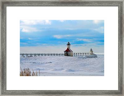 Saint Joseph Lighthouse Framed Print by Dan Sproul