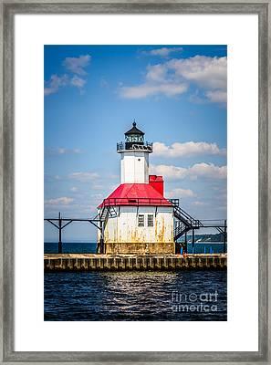 Saint Joseph Lighthouse Picture Framed Print by Paul Velgos