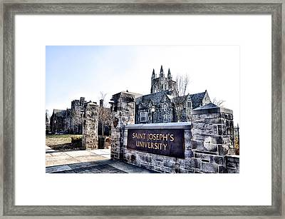 Saint Josephs University Framed Print by Bill Cannon