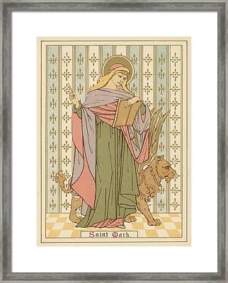 Saint Mark Framed Print by English School