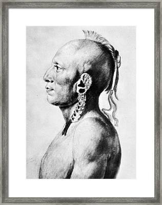 Saint-memin Osage, 1804 Framed Print by Granger