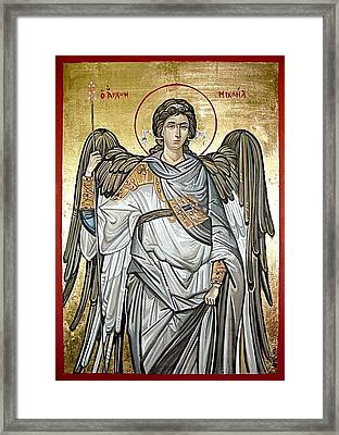 Saint Michael Framed Print by Filip Mihail