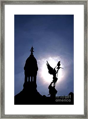 Saint Michael The Archangel  Framed Print by Olivier Le Queinec