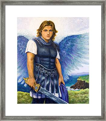Saint Michael The Archangel Framed Print by Patty Kay Hall