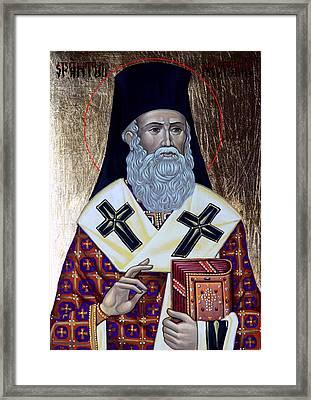 Saint Nectarios Framed Print by Claud Religious Art