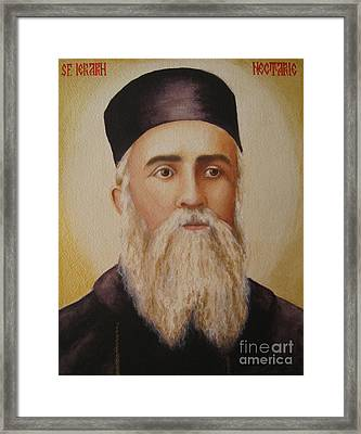 Saint Nectarios Of Aegina Framed Print by Andreea Ioana Bagiu