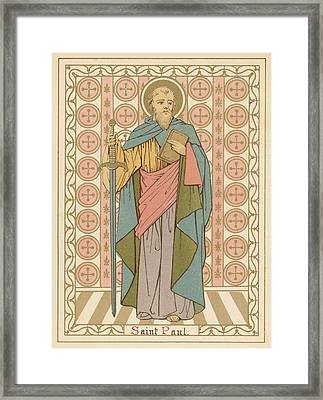 Saint Paul Framed Print by English School