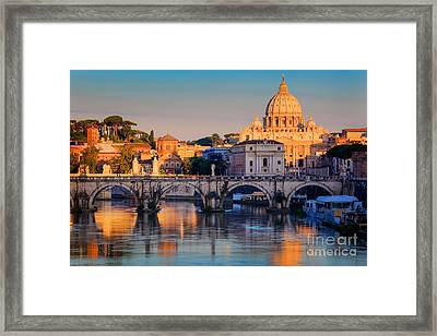 Saint Peters Basilica Framed Print by Inge Johnsson
