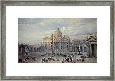 Saint Peters In Rome Framed Print by Louis Haghe