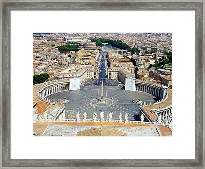 Saint Peter's Square Framed Print by Zinvolle Art