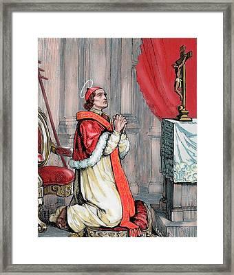 Saint Pius V (1504-1572 Framed Print by Prisma Archivo