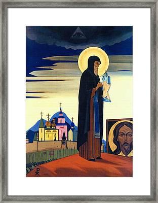 Saint Sergius Radonezhsky Framed Print by Nicholas Roerich