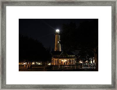 Saint Simons Lighthouse Framed Print by Leslie Kirk