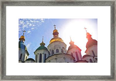 Saint Sophia Blessing Framed Print by Iryna Burkova