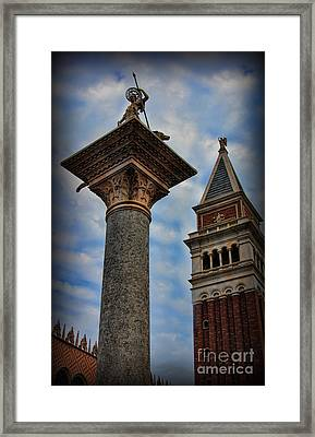 Saint Theodore Standing Guard II Framed Print by Lee Dos Santos