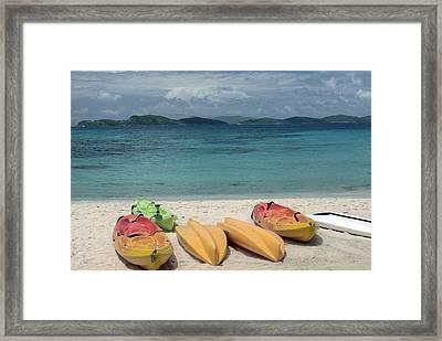 Saint Thomas Beaches Framed Print by Willie Harper