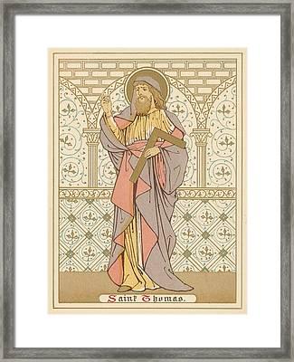 Saint Thomas Framed Print by English School