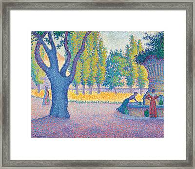 Saint-tropez Fontaine Des Lices Framed Print by Paul Signac