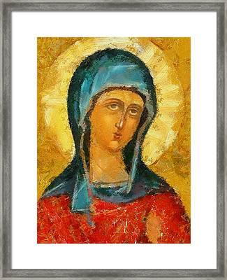 Saint Valentina Icon Framed Print by Yury Malkov