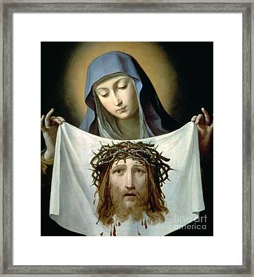 Saint Veronica Framed Print by Guido Reni