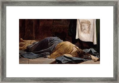 Saint Veronica Framed Print by Hippolyte Delaroche