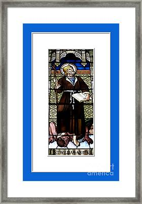 Saint William Of Aquitaine Stained Glass Window Framed Print by Rose Santuci-Sofranko