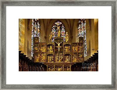 Sainte Croix - Kaysersberg France Framed Print by Brian Jannsen