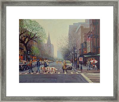 Saints Come Marching In Framed Print by Dianne Panarelli Miller