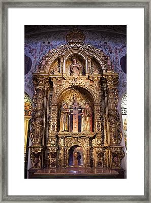 Saints Justa And Ruffina With Giralda Tower Reredos Framed Print by Artur Bogacki