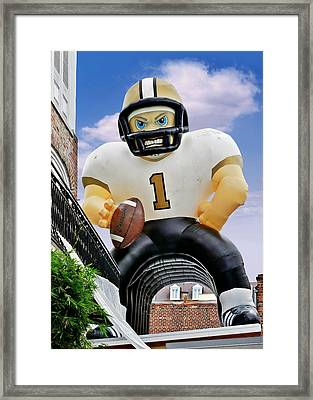 Saints New Orleans Framed Print by Christine Till